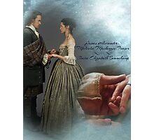 Outlander Wedding/Jamie & Claire Fraser/Diana Gabaldon Photographic Print
