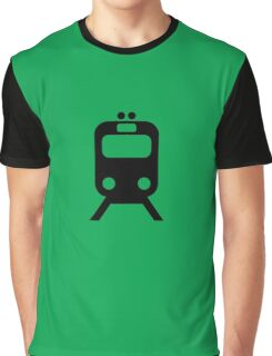 Chicago Commuter CTA Inspired Green Line Minimalism Design Graphic T-Shirt