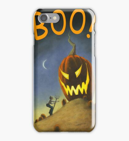 BOO! It's the Great Pumpkin Farmer Brown iPhone Case/Skin