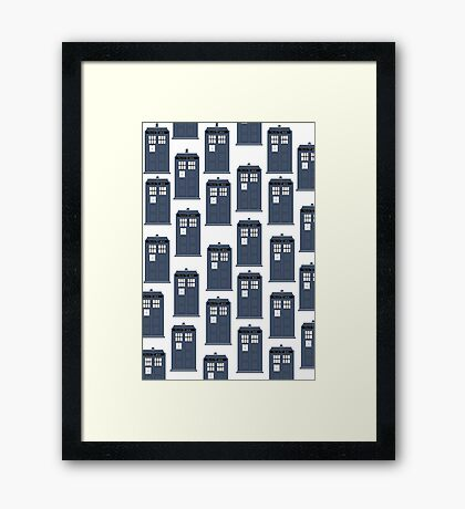 Doctor WHO Tardis Pattern Framed Print