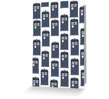 Doctor WHO Tardis Pattern Greeting Card