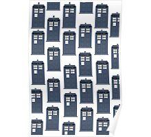 Doctor WHO Tardis Pattern Poster