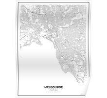 Melbourne, Australia, Minimalist Map Poster