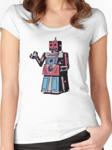Vintage Toy Robot Women's Fitted Scoop T-Shirt