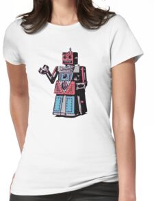 Vintage Toy Robot Womens Fitted T-Shirt