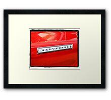 Belvedere Emblem Framed Print