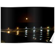 Pier at Night Poster