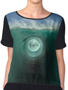 Time Traveling Wave Into Another Inter-Dimensional World Chiffon Top