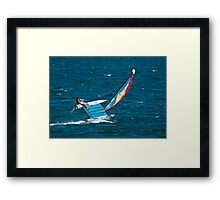 Hobie Cat on the Edge Framed Print
