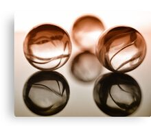 Macro Marble Reflections #3 Canvas Print