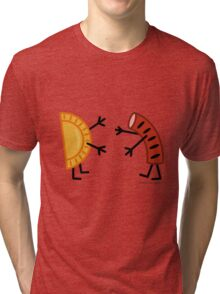 Pierogi & Kielbasa - Funny Friendly Foods Tri-blend T-Shirt