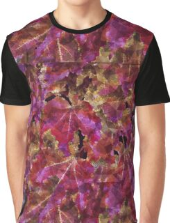 Autumn Leaves Abstract Graphic T-Shirt