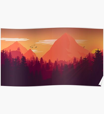 Firewatch Art Design - 4k  Poster