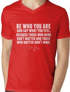 Dr. Seuss - Be who you are (black version) Mens V-Neck T-Shirt