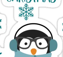 Punny Christmas - Penguin-ing to look a lot like Christmas Sticker