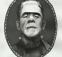 Boris Karloff as Frankenstein's Monster by laurenaliice