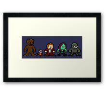 8-bit Guardians of the Galaxy Framed Print