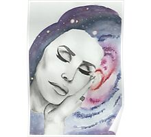 Lana Del Rey on Galaxy Background Poster