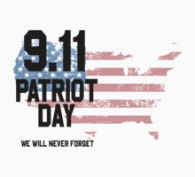 9.11 / Patriot Day : We Will Never Forget! Kids Tee