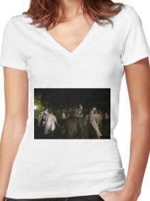 Korean War Memorial Women's Fitted V-Neck T-Shirt