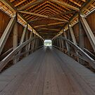 Covered Bridge Interior by Kenneth Keifer