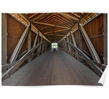 Covered Bridge Interior Poster