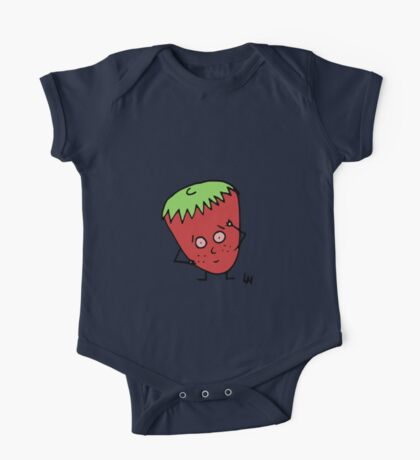 Happy Strawberry One Piece - Short Sleeve