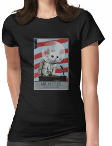 Mr Pebbles T-shirt - The first cat in space Womens Fitted T-Shirt