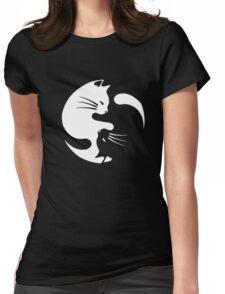 Cat ying yang - cat yin yang shirt Womens Fitted T-Shirt