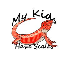 My Kids Have Scales Red Bearded Dragon Photographic Print