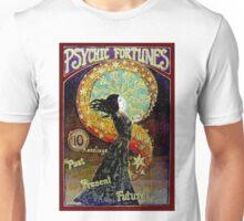 PSYCHIC FORTUNES; Vintage Fortune Teller Advertising Print Unisex T-Shirt