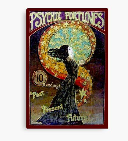 PSYCHIC FORTUNES; Vintage Fortune Teller Advertising Print Canvas Print