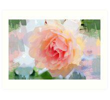 Painterly Pink Rose Art Print