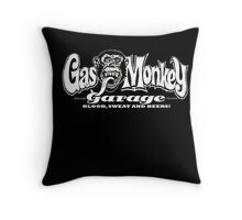 Gas Monkey Garage Blood Sweat and Beers Throw Pillow