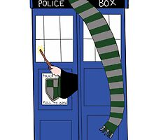 Slytherin Tardis by Crystal Friedman
