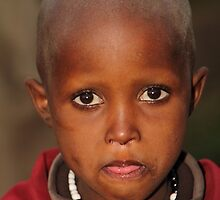 Maasai Child by Carole-Anne
