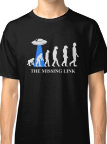 Human Evolution By Aliens Missing Link Classic T-Shirt