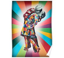 New York's Colorful Kiss in 1945 Poster