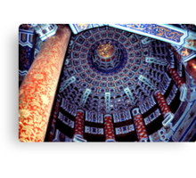 Temple of Heaven, Ceiling, Beijing, China  Canvas Print
