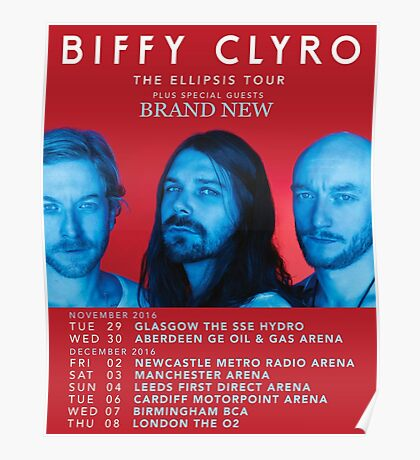 Biffy Clyro UK Tour Dates 2016 Poster