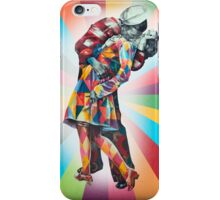New York's Colorful Kiss in 1945 iPhone Case/Skin