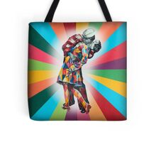 New York's Colorful Kiss in 1945 Tote Bag