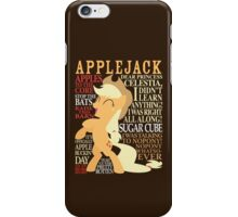 The Many Words of Applejack iPhone Case/Skin