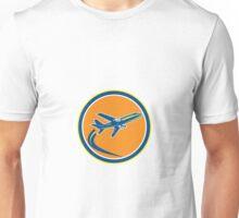 Commercial Jet Plane Airline Flying Retro Unisex T-Shirt