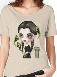 Be Afraid (Wednesday) Women's Relaxed Fit T-Shirt