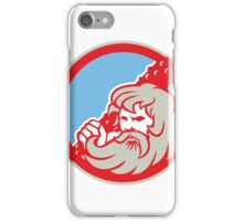 Hercules Wielding Club Circle Retro iPhone Case/Skin