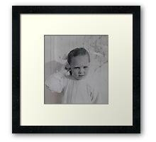 'Donna Williams' aged 4 Framed Print