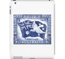 1945 Australia Flag and Dove of Peace Postage Stamp iPad Case/Skin