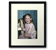 'Donna Williams' aged 6 Framed Print