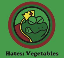 Hates: Vegetables One Piece - Short Sleeve